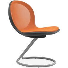 Net Round Base Chair - Orange