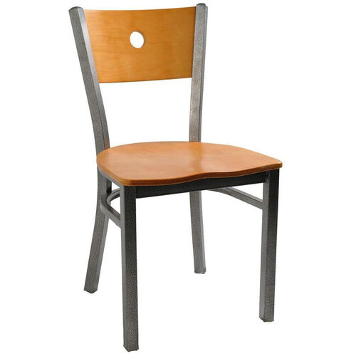 Our Moon Back Chair with Metal Frame and Veneer Seat and Back in Natural Finish is on sale now.