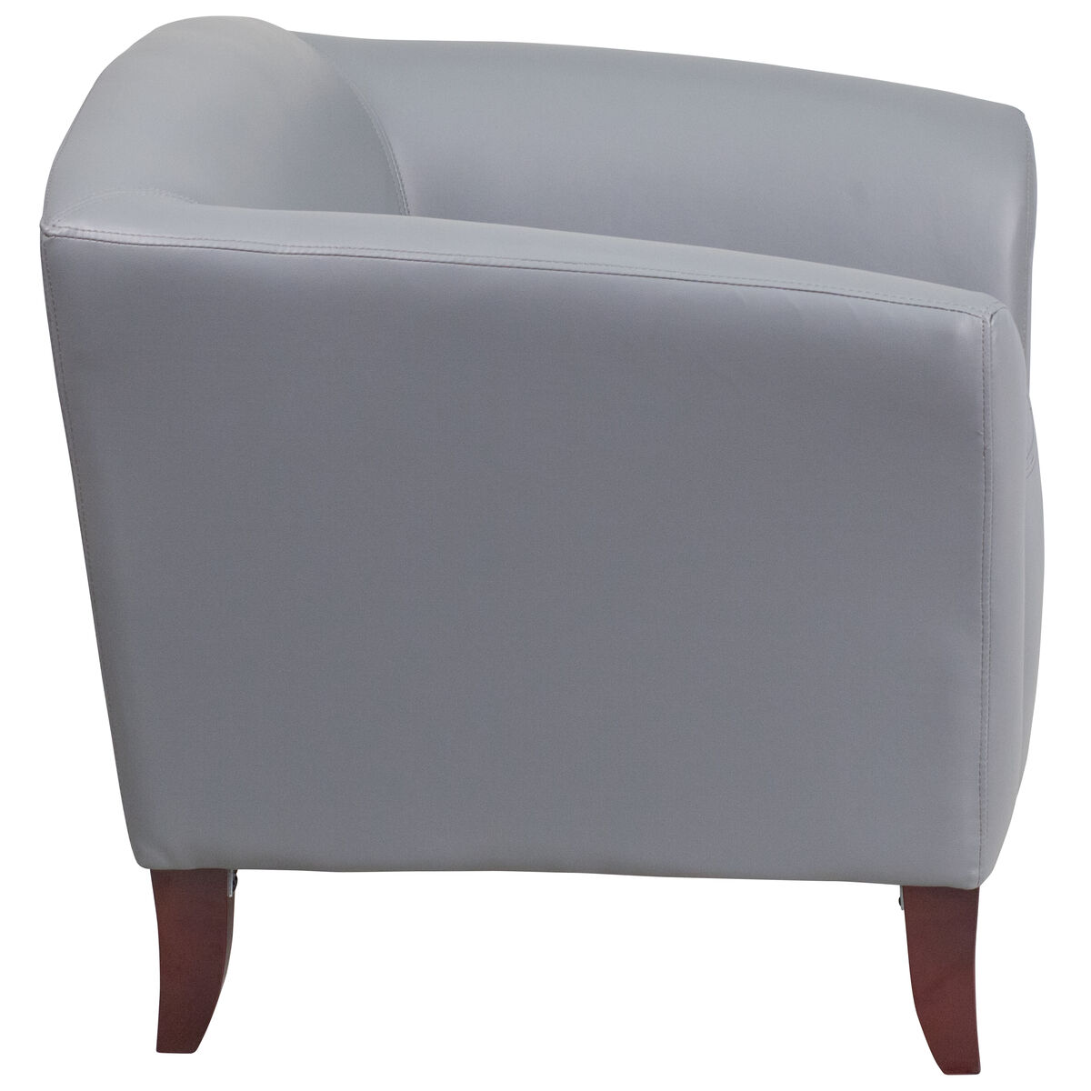 Gray Leather Chair 111 1 Gy Gg Churchchairs4less Com