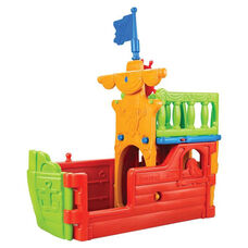 Indoor Outdoor Fade and Weather Resistant Plastic Buccaneer Boat Play Center
