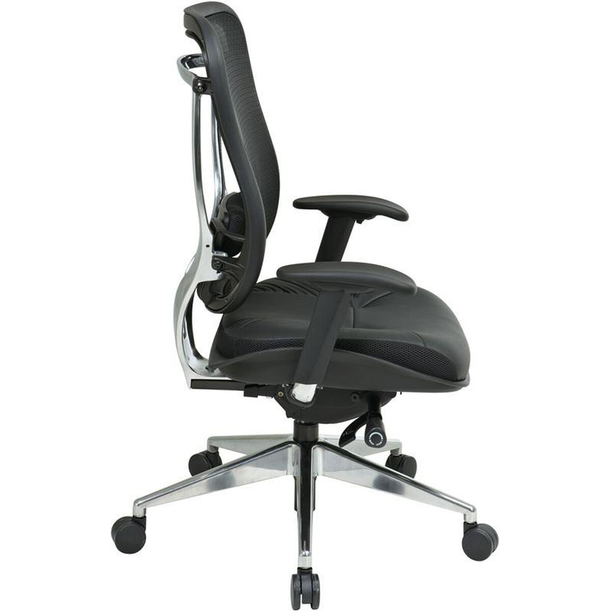 Our E 818 Executive High Back Office Chair With Breathable Mesh And Leather Seat