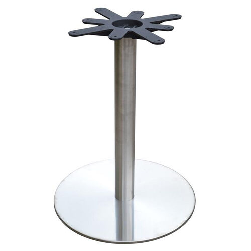 Stainless Steel Round Dining Height Table Base with 22