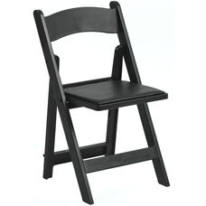 1000 lb. Max Resin Folding Chair - Set of 4 - Black