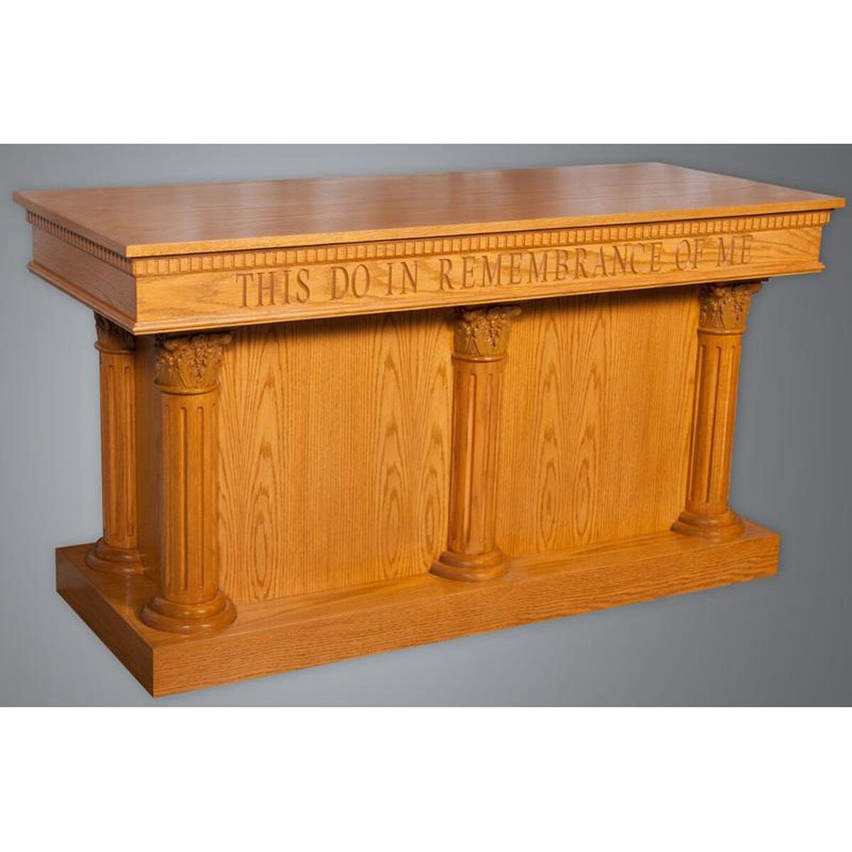 red oak closed communion table 8500ct | churchchairs4less