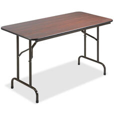 Lorell Folding Table - 24''W x 48''L x 29''H - Mahogany