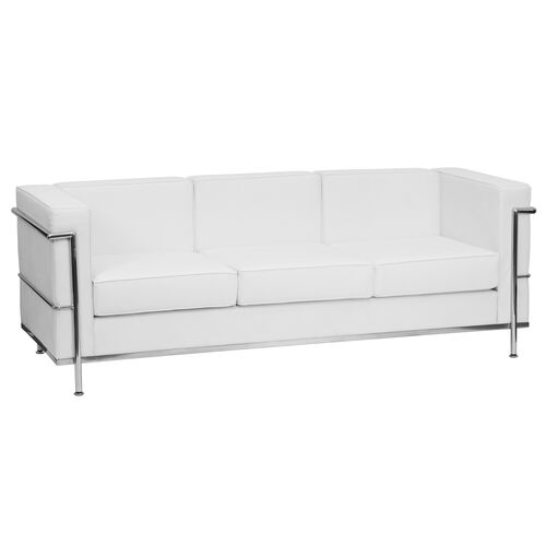 Our HERCULES Regal Series Contemporary Melrose White Leather Sofa with Encasing Frame is on sale now.