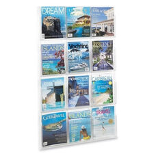 Safco Literature Rack - 12 Pockets Magazine - 30