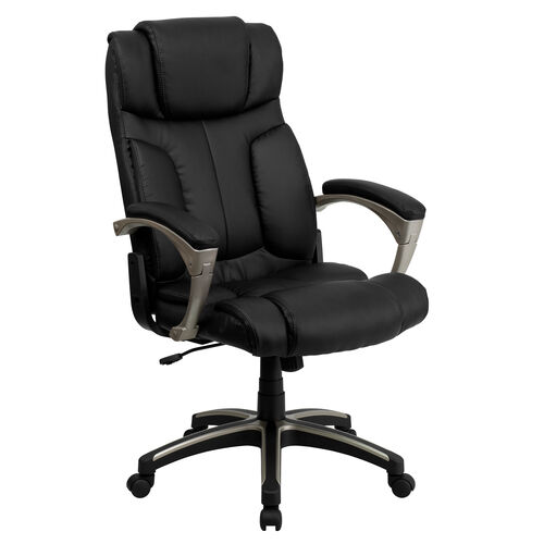 Our High Back Folding Black Leather Executive Swivel Office Chair with Arms is on sale now.