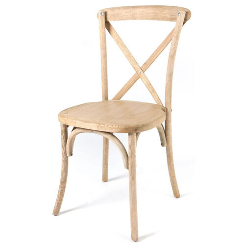 Our Rustic Sonoma Solid Wood Cross Back Stackable Dining Chair - Tinted Raw is on sale now.