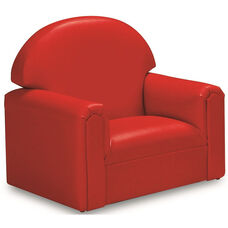 Just Like Home Toddler Size Overstuffed Vinyl Chair - Red - 22