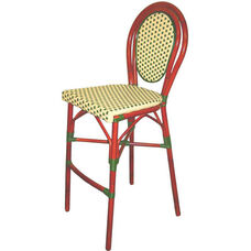 Parisienne Durable Aluminum Indoor/ Outdoor Stackable Barstool
