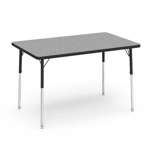 4000 Series Adjustable Height Rectangular Laminate Activity Table with Gray Nebula Top - 30