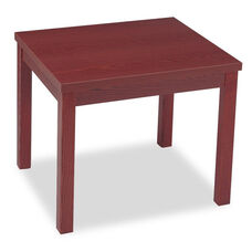 HON® Laminate Occasional Table - Rectangular - 24w x 20d x 20h - Mahogany