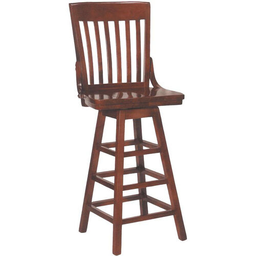 Our 2997 Bar Stool w/ Slat Back & Wood Saddle Seat is on sale now.