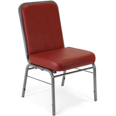 Comfort Class 300 lb. Capacity Anti-Microbial and Anti-Bacterial Vinyl Stack Chair - Wine