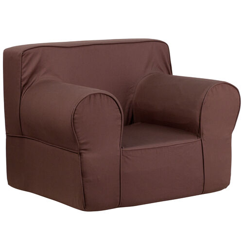 Our Oversized Solid Brown Kids Chair is on sale now.