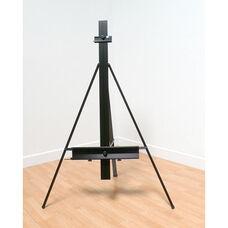 Premier Height Adjustable Floor Gallery Presentation Easel with Adjustable Tilt - Black