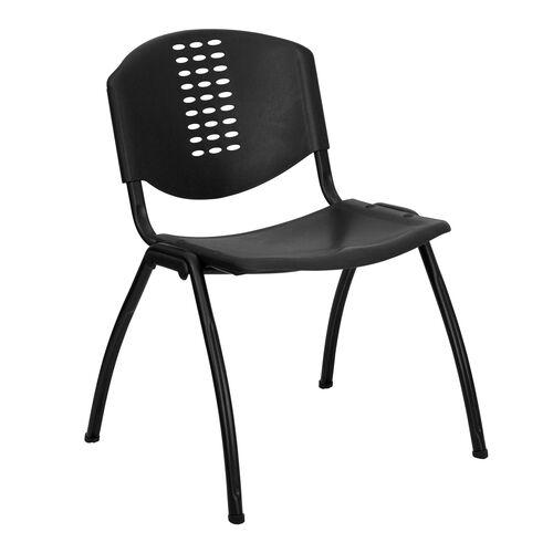 black plastic stack chair rut nf01a bk gg. Black Bedroom Furniture Sets. Home Design Ideas