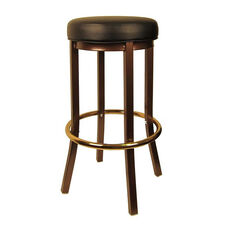 Metal Backless Barstool with Copper Vein Finish
