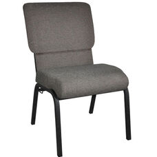 Advantage Fossil Church Chair with Book Rack 20.5 in. Wide