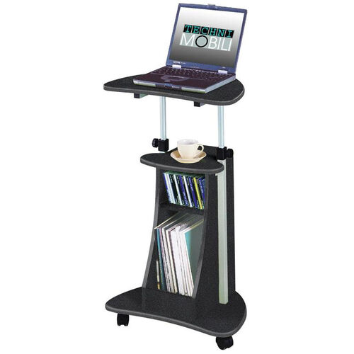 Techni Mobili Rolling Laptop Cart with Storage - Graphite