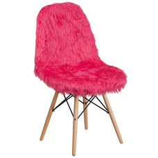 Shaggy Dog Hot Pink Accent Chair
