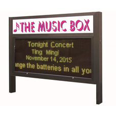 Multi-Configuration Bronze Anodized Marquee Yellow LED Motion Sign System with Sturdy Extruded Weather Proof Aluminum Cabinet and Easy-to-Use Software Included - 57.75