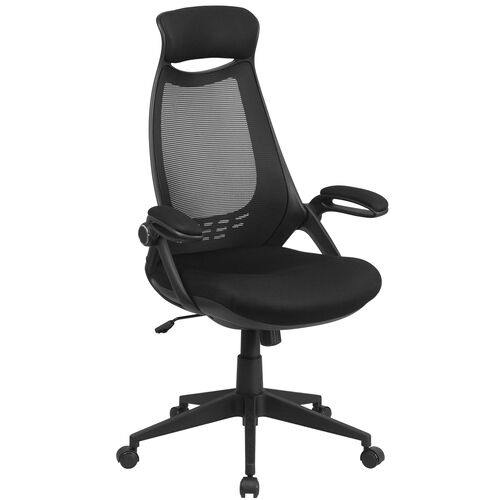 High Back Mesh Executive Swivel Chair with Flip-Up Arms