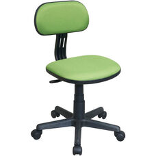 OSP Designs Armless Computer Task Chair with Seat Height Adjustment and Casters - Green