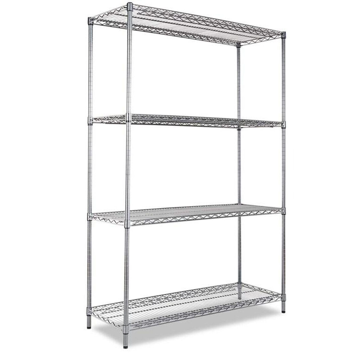 4 Shelf Wire Shelving Black Anthracite ALESW504818BA ...