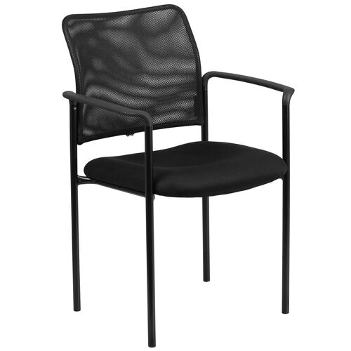 Our Comfort Black Mesh Stackable Steel Side Chair with Arms is on sale now.