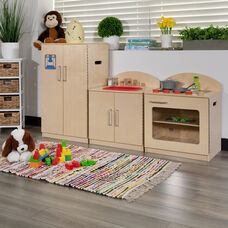 Children's Wooden Kitchen Set - Stove, Sink and Refrigerator for Commercial or Home Use - Safe, Kid Friendly Design