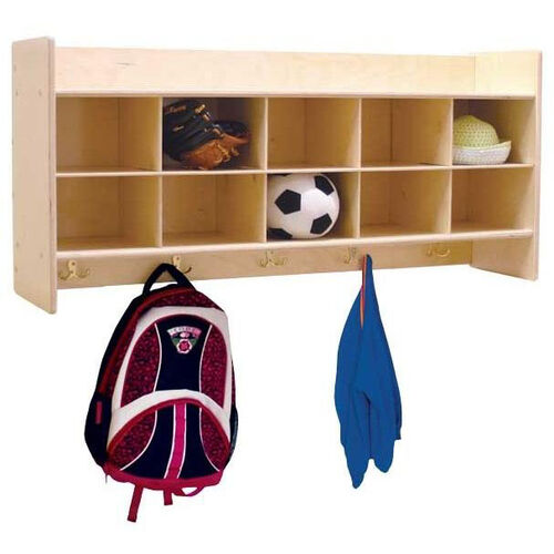 Our Wall Mountable Baltic Birch Plywood Coat Locker & Cubby Storage Unit with Tuff-Gloss UV Finish - 46.75