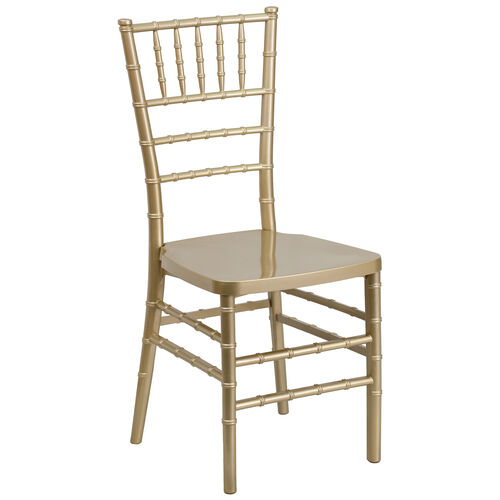 """Our HERCULES PREMIUM Series Gold Resin Stacking Chiavari Chair with <span style=""""color:#0000CD;"""">Free </span> Cushion is on sale now."""
