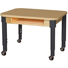 Mobile Classroom High Pressure Laminate Desk with Adjustable Steel Legs - 24