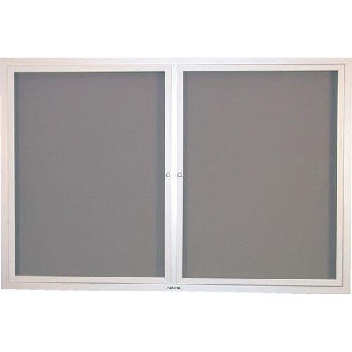Contemporary Bulletin Board Hinged 2 Door Cabinet - 48