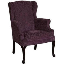 5200 Wing Chair with Tight Seat & Queen Anne Legs - Grade 1