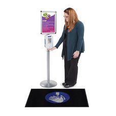 """Hand Sanitizer Message Floor Mat - 24""""W x 35""""D"""