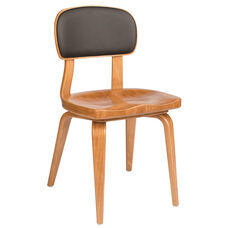 Kristi Side Chair with Wood Seat - Grade 1 Upholstered Back