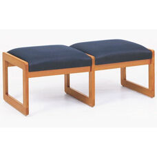 Classic Series 2 Seat Backless Bench with Sled Base