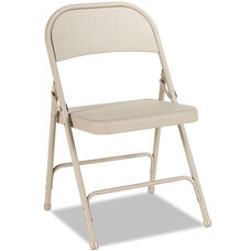 Alera® Steel Folding Chair - Tan - 4/Carton
