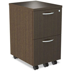 Alera® Sedina Series Mobile File/File Pedestal - 15 3/8w x 20d x 26 5/8h - Espresso