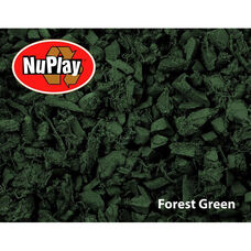 NuPlay Recycled Rubber Loose Fill Mulch - Forest Green - 75 Cubic Feet
