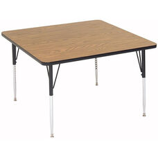 Adjustable Height Square Laminate Top Activity Table - 36''D x 36''W x 19''H - 29''H
