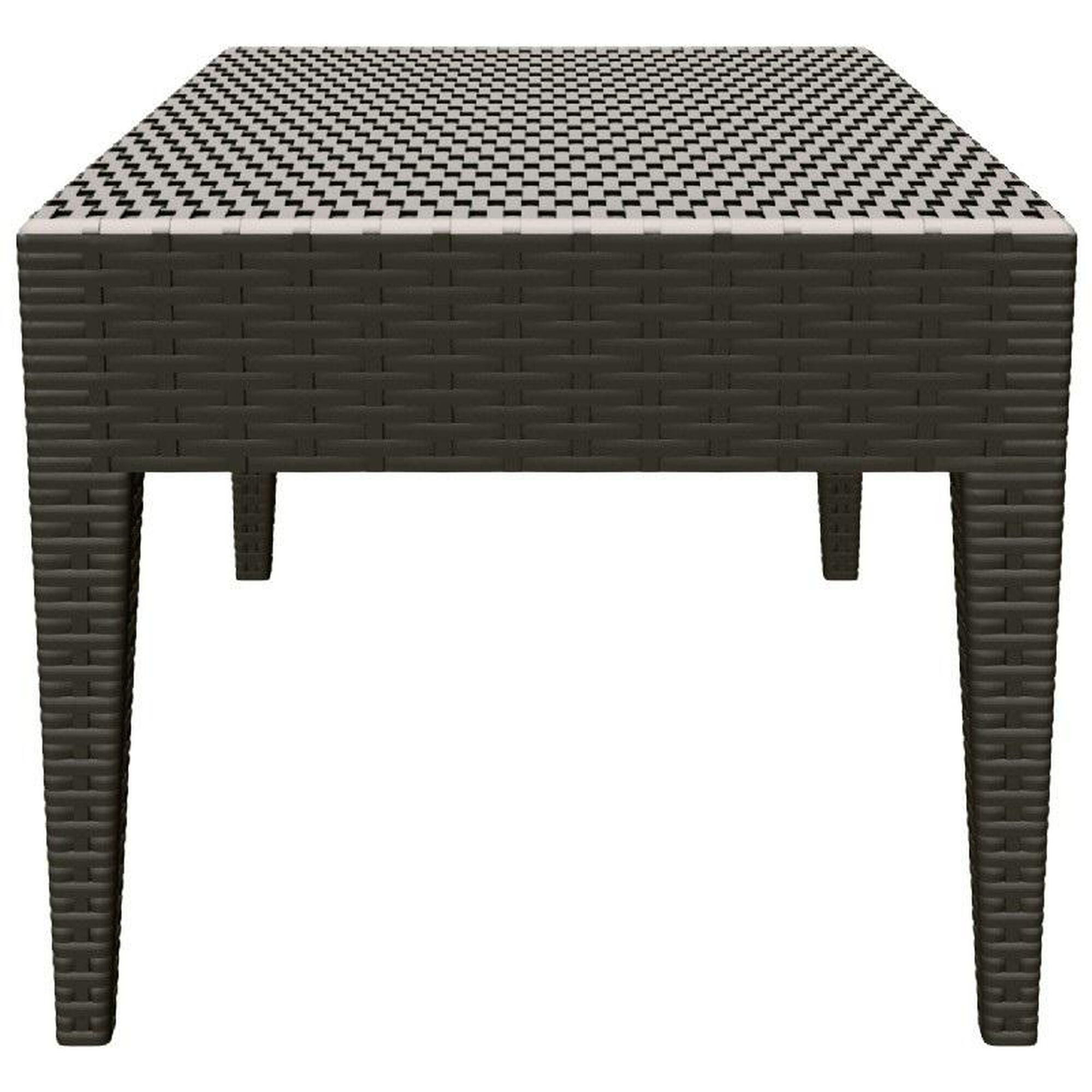 Images our miami outdoor wickerlook resin coffee table