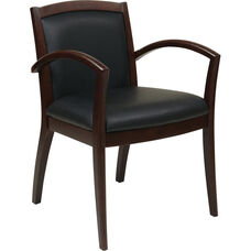 OSP Furniture Napa Guest Chair with Full Cushion Back - Espresso
