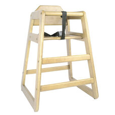Natural Wood Finish High Chair