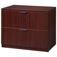 Legacy 29''H 2 Drawer Locking Wooden Lateral File Cabinet - Mahogany