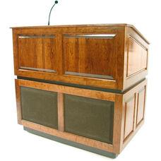 Ambassador Wired 150 Watt Sound Multimedia Lectern - Oak Finish - 30