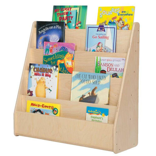 Single Sided Baltic Birch Plywood Book Display with Tuff-Gloss UV Finish - Assembled - 30